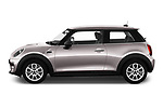 Car driver side profile view of a 2019 Mini MINI One 3 Door Hatchback