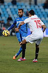 Getafe´s Diego Castro and Sevilla´s Kolo during 2014-15 La Liga match at Alfonso Perez Coliseum stadium in Getafe, Spain. February 08, 2015. (ALTERPHOTOS/Victor Blanco)
