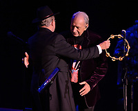 FORT LAUDERDALE, FL - OCTOBER 12: Michael Nesmith and Micky Dolenz of The Monkees perform during the Farewell Tour at The Parker on October 12, 2021 in Fort Lauderdale Florida.<br /> CAP/MPI04<br /> ©MPI04/Capital Pictures