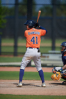 Houston Astros Trey Dawson (41) bats during a Minor League Spring Training Intrasquad game on March 28, 2019 at the FITTEAM Ballpark of the Palm Beaches in West Palm Beach, Florida.  (Mike Janes/Four Seam Images)