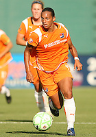 Rosana #11 of Sky Blue FC during moves the ball forward a WPS match against the Washington Freedom at RFK Stadium on May 23, 2009 in Washington D.C. Freedom won the match 2-1
