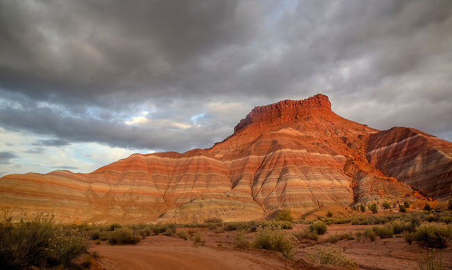 Colorful Chinle Formation clay beds are revealed from erosion at the The Grand Staircase Escalante National Monument, Utah