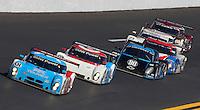 30 January 2011: The #01 BMW Riley of Scott Pruett, Memo Rojas, Joey hand, and Graham Rahal races to victory in the  Rolex 24 at Daytona, Daytona International Speedway, Daytona Beach, FL (Photo by Brian Cleary/www.bcpix.com)