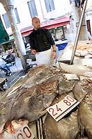 Il mercato di Rialto a Venezia.<br /> The Rialto markets in Venice.<br /> UPDATE IMAGES PRESS/Riccardo De Luca