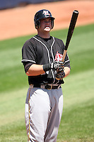 July 10th 2008:  Matt Hague of the Hickory Crawdads, Class-A affiliate of the Pittsburgh Pirates, during a game at Classic Park in Eastlake, OH.  Photo by:  Mike Janes/Four Seam Images