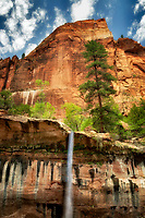 Emerald Pools Waterfalls. Zion National Park, Utah