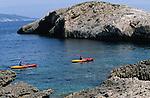 .Bisevo Island; Kayak.Cruise in Croatia. Island of Dalmatia