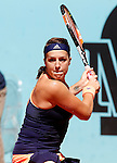 Anastasia Pavlyuchenkova during Madrid Open Tennis 2015 match.May, 6, 2015.(ALTERPHOTOS/Acero)