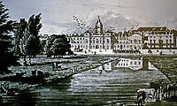 St. James Park, prior to John Nash remodel. Oldest Royal Park in London. Historical photo.