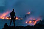 Nude Study along the Puna coast, Puʻu ʻŌʻō eruption, Kilauea Volcano, Hawaii, USA<br /> <br /> Canon EOS-1DS, EF70-200mm f/2.8 lens + 1.4x, f/18 for 13 seconds, ISO 200