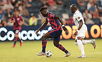KANSAS CITY, KS - JULY 15: Daryl Dike #11 of the United States moves towards the box during a game between Martinique and USMNT at Children's Mercy Park on July 15, 2021 in Kansas City, Kansas.