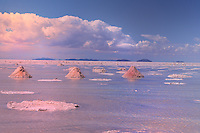 BOLIVIA - ALTIPLANO<br /> Impressions of UYUNI SALTLAKE in rainy season<br /> The huge white saltpan covered with heavy rainfall  looks like a shiny mirror of the sky in all rainbow colours<br /> <br /> Full size: 68,5 MB