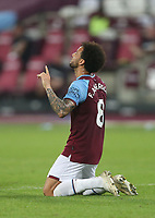West Ham United's Felipe Anderson celebrates scoring his side's third goal <br /> <br /> Photographer Rob Newell/CameraSport<br /> <br /> Carabao Cup Second Round Northern Section - West Ham United v Charlton Athletic - Tuesday 15th September 2020 - London Stadium - London <br />  <br /> World Copyright © 2020 CameraSport. All rights reserved. 43 Linden Ave. Countesthorpe. Leicester. England. LE8 5PG - Tel: +44 (0) 116 277 4147 - admin@camerasport.com - www.camerasport.com