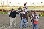 07 February 2010:  Bim Bam with jockey Eibar Coa wins the The Hallandale Beach Stakes at Gulfstream Park in Hallandale Beach, FL.