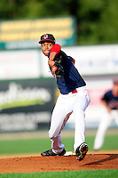 Lowell Spinners starting pitcher Kevin Steen (22) during a game versus the Hudson Valley Renegades at Lelacheur Park on August 30, 2015 in Lowell, Massachusetts.  (Ken Babbitt/Four Seam Images)