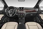 Stock photo of straight dashboard view of 2017 Mercedes Benz B-Class Electric-Drive 5 Door Mini MPV Dashboard