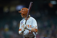 Duke Ellis (11) of the Texas Longhorns at bat against the LSU Tigers in game three of the 2020 Shriners Hospitals for Children College Classic at Minute Maid Park on February 28, 2020 in Houston, Texas. The Tigers defeated the Longhorns 4-3. (Brian Westerholt/Four Seam Images)