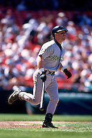 SAN FRANCISCO, CA - Jeff Bagwell of the Houston Astros in action during a game against the San Francisco Giants at Candlestick Park in San Francisco, California in 1994. Photo by Brad Mangin