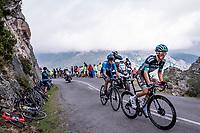 Rafal Majka (POL/Bora-Hansgrohe) & Marc Soler (ESP/Movistar) up the Alto de La Cubilla<br /> <br /> Stage 16: Pravia to Alto de La Cubilla. Lena (144km)<br /> La Vuelta 2019<br /> <br /> ©kramon