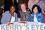 Grace Titus, Caroline Killeen and Marie Carroll enjoying the Killarney Soroptimists pancake morning in the Killarney Avenue Hotel on Tuesday