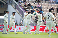 New Zealand celebrate Henry Nicholls, New Zealand fine catch to dismiss Rishabh Pant, India during India vs New Zealand, ICC World Test Championship Final Cricket at The Hampshire Bowl on 23rd June 2021