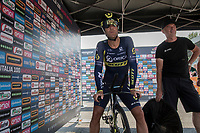 Svein Tuft (CAN/Orica-Scott) just before starting his time trial<br /> <br /> stage 21: Monza - Milano (29km)<br /> 100th Giro d'Italia 2017
