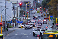 Willis Street at 4pm, Tuesday during Alert Level 2 lockdown for the COVID-19 pandemic in Wellington, New Zealand on Tuesday, 26 May 2020. Photo: Dave Lintott / lintottphoto.co.nz