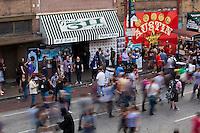 An epic street bash along the 6th Street bar corridor in Austin, Texas, during SXSW