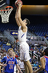 Bishop Gorman's Zach Collins shoots against Reno during the NIAA Division I state basketball tournament in Reno, Nev. on Thursday, Feb. 25, 2016. Gorman won 70-39. Cathleen Allison/Las Vegas Review-Journal