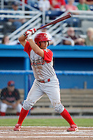 Williamsport Crosscutters outfielder Kenny Miramontes #31 during the second game of a doubleheader against the Batavia Muckdogs at Dwyer Stadium on August 23, 2011 in Batavia, New York.  Batavia defeated Williamsport 2-1.  (Mike Janes/Four Seam Images)