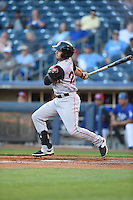 ***Temporary Unedited Reference File***Arkansas Travelers first baseman Eric Aguilera (24) during a game against the Tulsa Drillers on April 25, 2016 at ONEOK Field in Tulsa, Oklahoma.  Tulsa defeated Arkansas 4-3.  (Mike Janes/Four Seam Images)