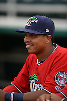 Fort Myers Miracle second baseman Aderlin Mejia (13) before a game against the Tampa Yankees on April 15, 2015 at Hammond Stadium in Fort Myers, Florida.  Tampa defeated Fort Myers 3-1 in eleven innings.  (Mike Janes/Four Seam Images)