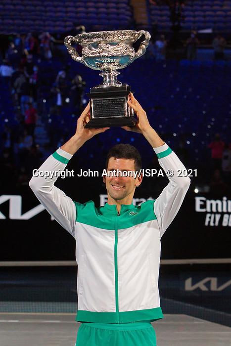 Novak Djokovic triumphs over Danel Medvedev in the final at the Australian Open