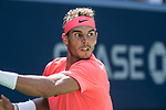 September  4, 2017:  Rafael Nadal (ESP) defeated Alexandr Dolgopolov (UKR)  6-2, 6-4, 6-1, at the US Open being played at Billy Jean King Ntional Tennis Center in Flushing, Queens, New York. Leslie Billman/EQ