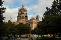 The Texas State Capitol is located in Austin, Texas and is the fourth building in Austin to serve as the seat of Texas government. It houses the chambers of the Texas Legislature and the office of the governor of Texas. It was originally designed in 1881 by architect Elijah E. Myers, who was fired in 1886,[3] and was constructed from 1882-88 under the direction of civil engineer Reuben Lindsay Walker. A $75 million underground extension was completed in 1993. The building was added to the National Register of Historic Places in 1970 and recognized as a National Historic Landmark in 1986.[2][4] The Texas state capitol is 308 ft (94 m) tall.