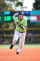Drew Ellis (15) of the Hillsboro Hops runs the bases during a game against the Spokane Indians at Ron Tonkin Field on July 23, 2017 in Hillsboro, Oregon. Spokane defeated Hillsboro, 5-3. (Larry Goren/Four Seam Images)