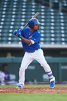 AZL Cubs 1 Yovanny Cuevas (24) at bat during an Arizona League game against the AZL D-backs on July 25, 2019 at Sloan Park in Mesa, Arizona. The AZL D-backs defeated the AZL Cubs 1 3-2. (Zachary Lucy/Four Seam Images)