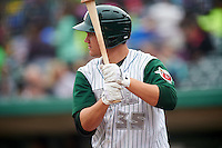 Fort Wayne TinCaps designated hitter Brad Zunica (35) during the first game of a doubleheader against the Great Lakes Loons on May 11, 2016 at Parkview Field in Fort Wayne, Indiana.  Great Lakes defeated Fort Wayne 3-0.  (Mike Janes/Four Seam Images)