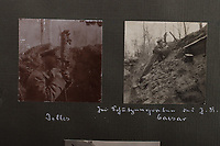BNPS.co.uk (01202 558833)<br /> Pic: C&TAuctions/BNPS<br /> <br /> Pictured: German officers using trench periscopes. <br /> <br /> Fascinating previously unseen World War One photos showing the conflict from the German perspective have come to light 103 years on.<br /> <br /> Major Hans Rudloff, a distinguished artillery officer, took hundreds of images of some of the major Western Front battles.<br /> <br /> There are scenes of destruction on the Verdun and at Cambrai, as well as snapshots of captured British soldiers on the Somme in the early days of the German Spring Offensive in March 1918.