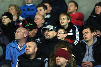 Pictured: Swansea supporters Monday 30 March 2015<br /> Re: U21 Professional Development League 2, Swansea City AFC v Leeds United FC at the Liberty Stadium.