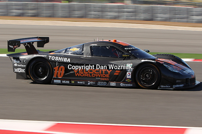 Max Angelelli (10), Driver of Wayne Taylor Racing Corvette in action during the Grand Am of the Americas, Rolex race at the Circuit of the Americas race track in Austin,Texas...