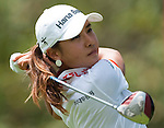 CHON BURI, THAILAND - FEBRUARY 19:  Hee Young Park of South Korea tees off on the 9th hole during day three of the LPGA Thailand at Siam Country Club on February 19, 2011 in Chon Buri, Thailand. Photo by Victor Fraile / The Power of Sport Images