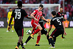 Bayern Munich Forward Robert Lewandowski (C) in action against AC Milan Midfielder Giacomo Bonaventura (R) during the 2017 International Champions Cup China  match between FC Bayern and AC Milan at Universiade Sports Centre Stadium on July 22, 2017 in Shenzhen, China. Photo by Marcio Rodrigo Machado / Power Sport Images