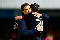 28th August 2021; Weston Homes Stadium, Peterborough, Cambridgeshire, England; EFL Championship football, Peterborough United versus West Bromwich Albion; West Bromwich Albion Head Coach Valerien Ismael celebrates after the final whistle