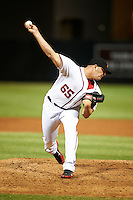 Salt River Rafters pitcher Cole Kimball #65, of the Washington Nationals organization, during an Arizona Fall League game against the Peoria Javelinas at the Salt River Fields at Talking Stick on October 18, 2012 in Scottsdale, Arizona.  Peoria defeated Salt River 3-1.  (Mike Janes/Four Seam Images via AP Images)