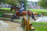 USA-Hannah-Sue Burnett rides Harbour Pilot during the Cross Country. 2019 GBR-Land Rover Burghley Horse Trials. Saturday 7 September. Copyright Photo: Libby Law Photography