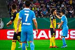 09.08.2019, Merkur Spiel-Arena, Düsseldorf, GER, DFB Pokal, 1. Hauptrunde, KFC Uerdingen vs Borussia Dortmund , DFB REGULATIONS PROHIBIT ANY USE OF PHOTOGRAPHS AS IMAGE SEQUENCES AND/OR QUASI-VIDEO<br /> <br /> im Bild | picture shows:<br /> Roberto Rodriguez (KFC Uerdingen #11) mit Axel Witsel (Borussia Dortmund #28), <br /> <br /> Foto © nordphoto / Rauch