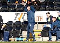 Barrow manager Ian Evatt shows his frustration during Barnet vs Barrow, Buildbase FA Trophy Football at the Hive Stadium on 8th February 2020