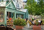 Germany, Thuringia, Ilmenau: cafés in town centre | Deutschland, Thueringen, Goethe- und Universitaetsstadt Ilmenau: Cafes in der Innenstadt