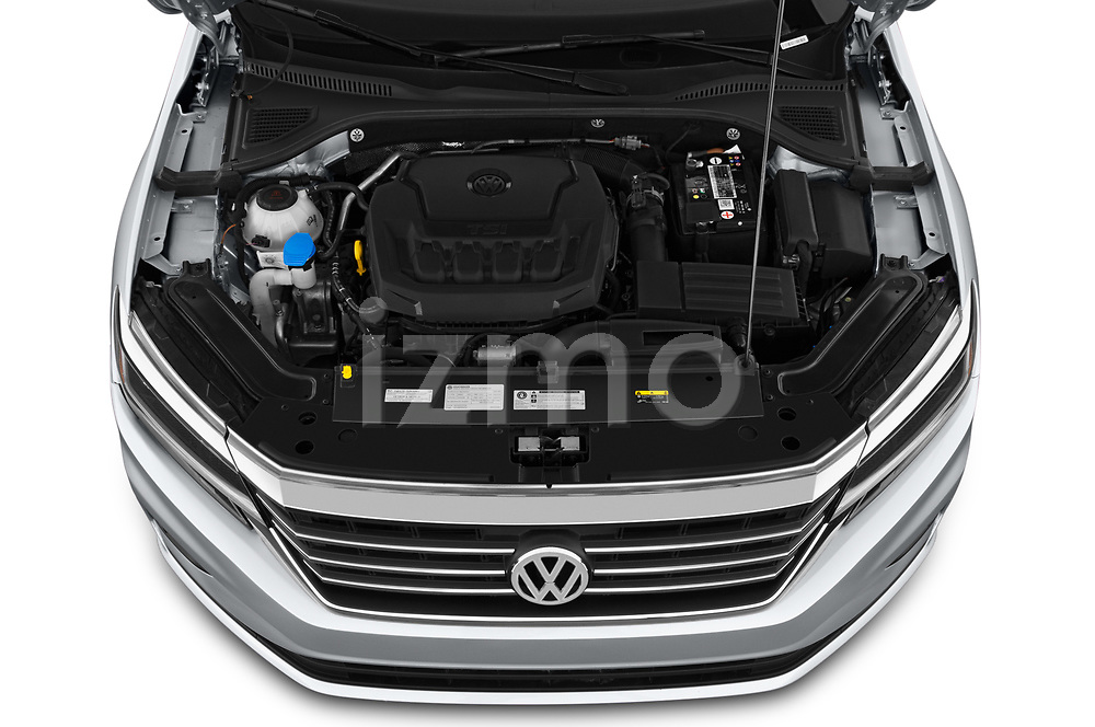 Car Stock 2020 Volkswagen Passat SE 4 Door Sedan Engine  high angle detail view